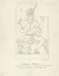 Puri. Sculpture of one of the Saptamatrikas.April 28, 1815